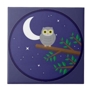 A Gray Owl Ceramic Tiles