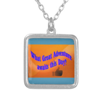 A Great Adventure Silver Plated Necklace
