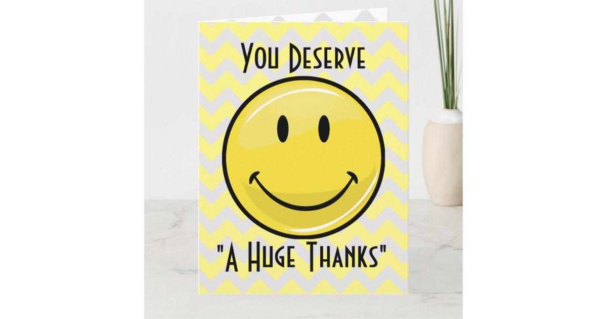 A Great Big Smile Giant Thank You Card Zazzle Ca