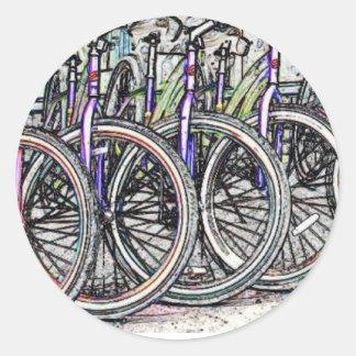 A great bike design round sticker