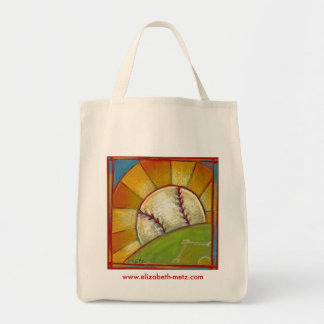 """""""A Great Day for Baseball"""" tote bag"""