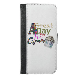 A great day for Ice Cream Iphone wallet
