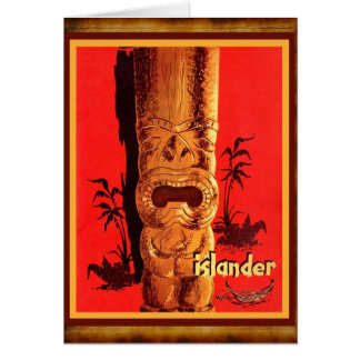 A great old mid-century Tiki! Card