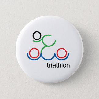 A great Triathlon gift for your friend or family 2 Inch Round Button
