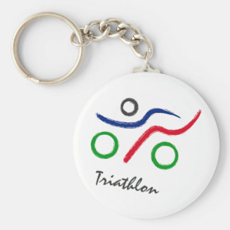A great Triathlon gift for your friend or family Keychain