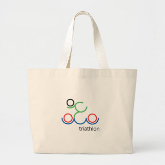 A great Triathlon gift for your friend or family Large Tote Bag