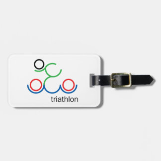 A great Triathlon gift for your friend or family Luggage Tag