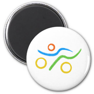 A great Triathlon gift for your friend or family Magnet