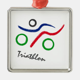 A great Triathlon gift for your friend or family Metal Ornament