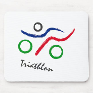 A great Triathlon gift for your friend or family Mouse Pad