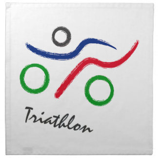 A great Triathlon gift for your friend or family Napkin
