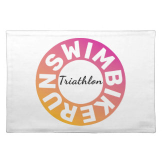 A great Triathlon gift for your friend or family Placemat