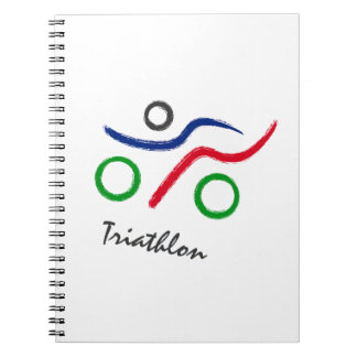 A great Triathlon gift for your friend or family Spiral Notebook