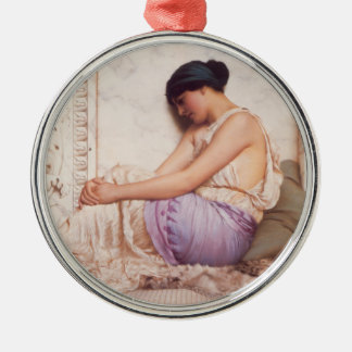A Grecian Girl Metal Ornament