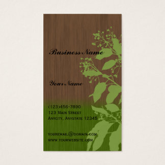 A Green Earth Business Card