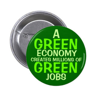 A Green Economy 2 Inch Round Button