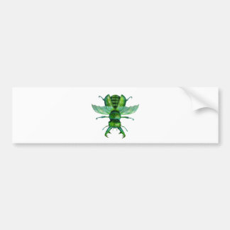A Green Stag Beetle Bumper Sticker