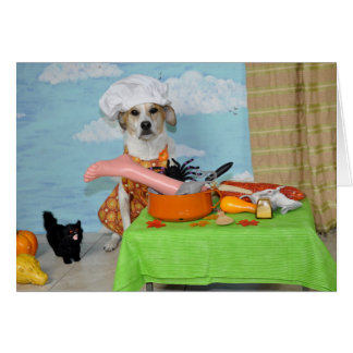 A greeting card /Thanksgiving? humorous dog photo