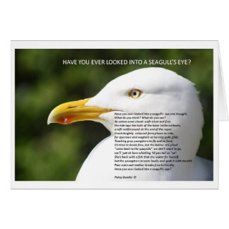 A GREETING CARD WITH A POEM ABOUT A SEAGULL