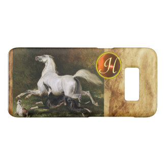 A Grey Arab Stallion Galloping With Dogs Monogram Case-Mate Samsung Galaxy S8 Case