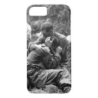 A grief stricken American infantryman_War Image iPhone 7 Case