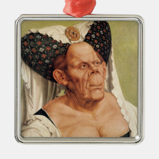 A Grotesque Old Woman, possibly Princess Margaret Metal Ornament