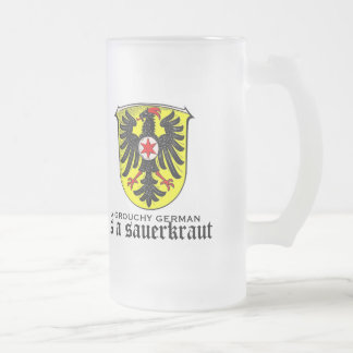A grouchy German is a sauerkraut funny glass mug