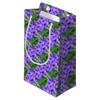 A Group of Beautiful Morning Glories Small Gift Bag