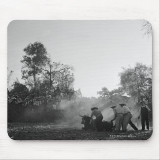 A group of Mexican charros bullfighters twist Mouse Pad