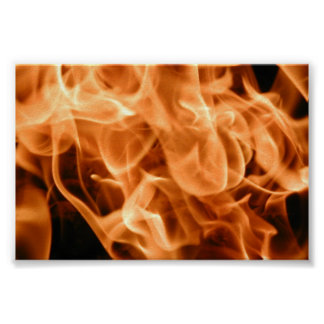 A growing Flaming Fire Poster