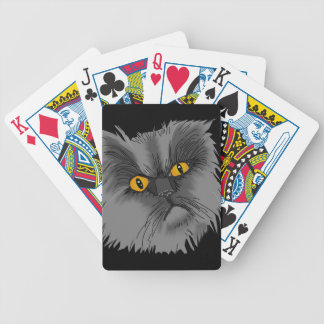 A Grumpy Cat Bicycle Playing Cards