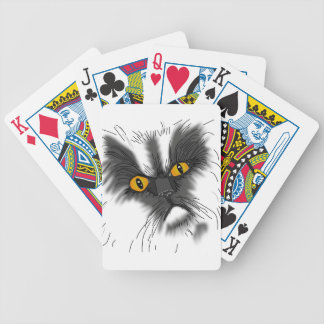 A Grumpy Cat not all here Bicycle Playing Cards