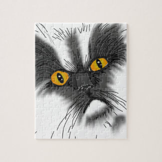 A Grumpy Cat not all here Jigsaw Puzzle