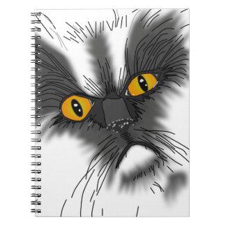 A Grumpy Cat not all here Spiral Notebook