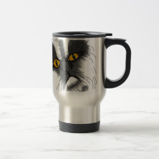 A Grumpy Cat not all here Travel Mug
