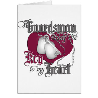 A Guardsman holds the key to my Heart Greeting Card