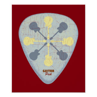 a guitar pick poster