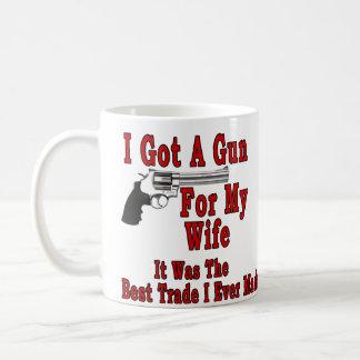 A Gun For My Wife Coffee Mug