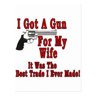 A Gun For My Wife Postcard