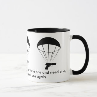 A gun is like a parachute! Great Mug! Mug