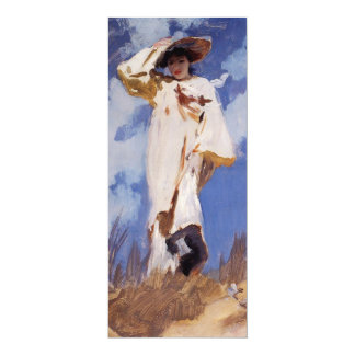 """A Gust of Wind by John Singer Sargent 4"""" X 9.25"""" Invitation Card"""