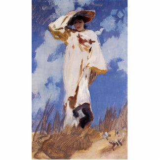 A Gust of Wind by John Singer Sargent Photo Sculpture Magnet