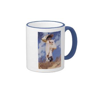 A Gust of Wind by John Singer Sargent Ringer Mug