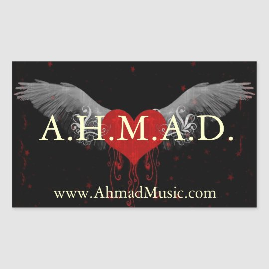 """A.H.M.A.D. 4.5""""X2.7"""" sticker"""
