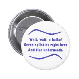 A Haiku 2 Inch Round Button