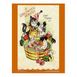 """""""A Halloween Howdy"""" Vintage Halloween Card"""