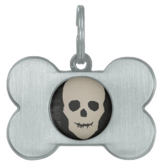 A Halloween Skull Pet Name Tags