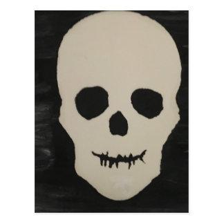 A Halloween Skull Postcard