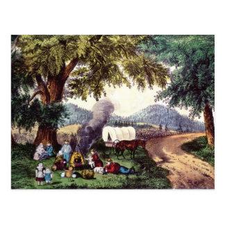 A Halt by the Wayside Postcard