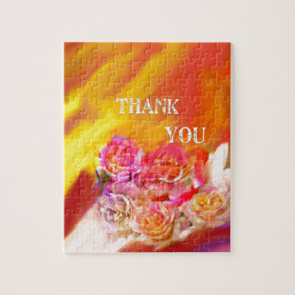 A hand full of thanks tends toward you. jigsaw puzzle